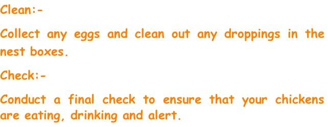 Clean:-